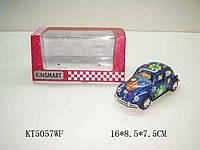 Машина метал.kinsmart kt5057wf  volkswagen classical beetle 1967 в кор. 16*8,5*7,5см - KT5057WF