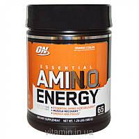 Optimum Nutrition, Энергия незаменимых аминокислот с цитрусовым вкусом, 585 г,оригинал