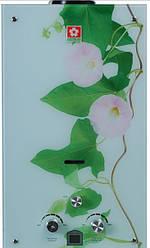 Газова колонка Sakura Samurai Квітка ( скло ) LCD 20 квт. 10 л/хв.