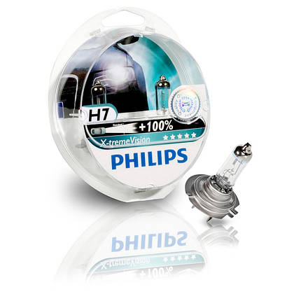 Автомобильные лампы Philips X-treme Vision +100% H7, фото 2