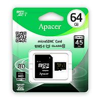 Карта памяти microSDXC (UHS-1) Apacer 64Gb class 10 (adapter SD)
