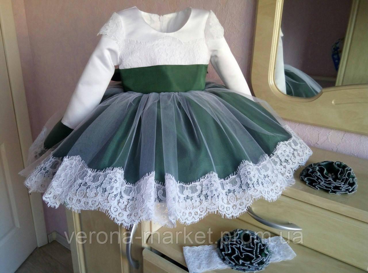 facdb6c24ff Красивое нарядное платье на девочку с пышным низом и кружевное отделкой