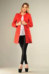 Пиджак из мемори красный