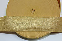 Резинка декоративная 60мм. желтый+золото , фото 1