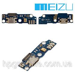 Шлейф для Meizu M1, коннектора зарядки, с компонентами, оригинал