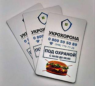 Плоские магниты-визитки на заказ 1