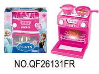 """Электроплита """"Frozen"""" с посудой батар., муз., свет. кор. 29,5*13,5*28 см. /36/"""