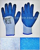 Перчатки хлопковые вязаные с латексным покрытием HKL632