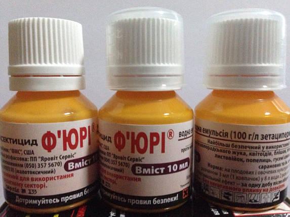 Инсектицид Фьюри (10 мл)— экономный препарат от вредителей сада, огорода и ДОМА (клопы,муравьи, др) БЕЗ ЗАПАХА, фото 2