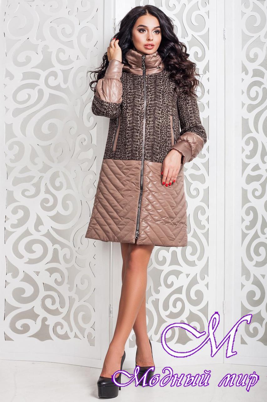 Женское современное пальто больших размеров (р. 44-58) арт. 972 Тон 10