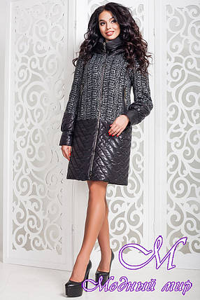 Женское модное пальто больших размеров (р. 44-58) арт. 972 Тон 12, фото 2
