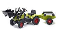 Трактор на педалях ковш прицеп Falk LANDINI зеленый