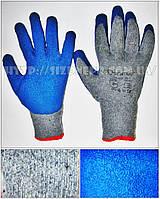 Перчатки хлопковые вязаные с неполным латексным покрытием HKL622
