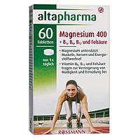 Altapharma Magnesium 400 + B1, B6, B12 & Folsäure - Магнезия 400 + B1, B6, B12 + Фолиевая кислота, 60 табл.