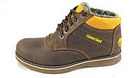 Ботинки  мужские с мехом TIMBERLAND кожаные коричневые (р.41,42,43,44,45)