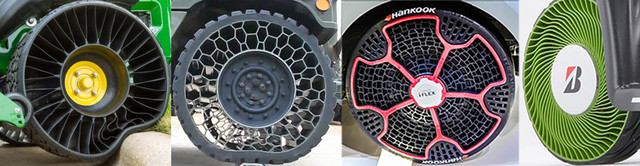 Безвоздушные шины Michrlin Polaris Brigestone Hankook
