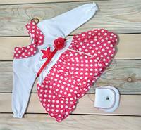 Платье детское с сумочкой 0-1 год