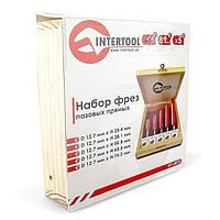 Набор фрез пазовых прямых, 5 шт. Intertool HT-0075