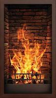Пленочный обогреватель-картина Трио (Камин), домашний настенный обогреватель