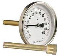 Термометр аксиальный биметаллический в металлическом корпусе AFRISO ВiTh