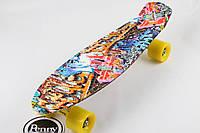 "Скейт,пенни борд Original 22""  Coloured Graffiti"