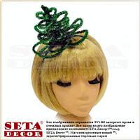 Новогодняя ёлочка на голову на обруче зелёная