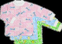 Кофточка цветная на пуговицах с длинным рукавом, начес, ТМ Виктория, р. 56, 62, 68, 74, 86 3-6 мес. \ 68 см. Разные цвета