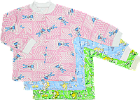 Кофточка цветная на пуговицах с длинным рукавом, начес, ТМ Виктория, р. 56, 62, 68, 74, 86 6-9 мес. \ 74 см. Разные цвета