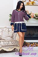 Женское модное батальное пальто (р. 44-60) арт. 945 Тон 242