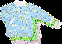 Кофточка цветная на пуговицах, с длинным рукавом, начес (футер), ТМ Виктория, р. 56, 62, 68, 74, 86 3-6 мес. \ 68 см. Разные цвета