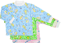 Кофточка цветная на пуговицах, с длинным рукавом, начес (футер), ТМ Виктория, р. 56, 62, 68, 74, 86 6-9 мес. \ 74 см. Разные цвета