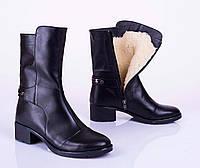 Зимние женские кожаные сапоги, от 36 до 41 р-ра