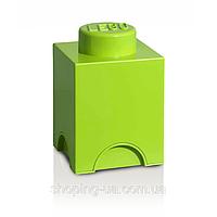 Одноточечный салатовый контейнер для хранения Lego PlastTeam 40010120