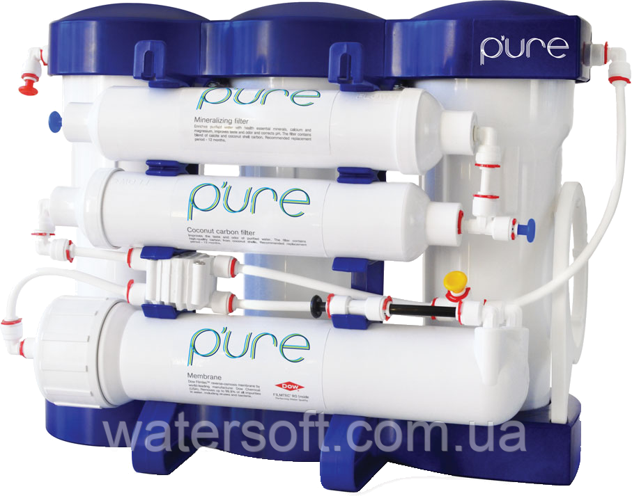 """Фильтр обратного осмоса P'ure Ecosoft с минерализацией - """"Watersoft"""" - чистая вода в каждый дом в Киеве"""