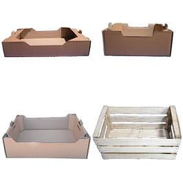 Ящики з гофрокартону та дерев'яного шпону