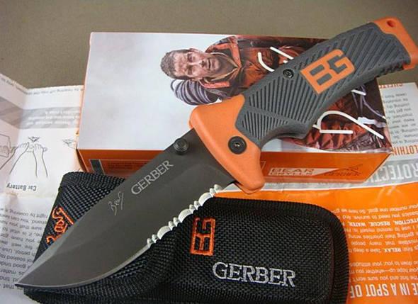 Туристический складной нож Gerber Bear Grylls Folding Sheath Knife с чехлом копия, фото 2