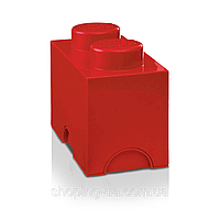 Двухточечный красный контейнер для хранения Lego PlastTeam 40021730