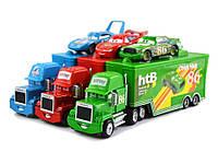 Детская игрушка Трейлер и машинка Чико, Кинга, Мак из мультика Тачки - 3 набора