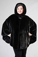 Пончо из американской норки блекглама размеры от 42-60р под заказ, фото 1