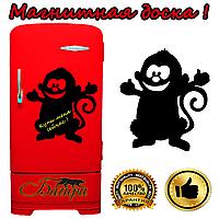 Магнитно-грифельная доска на холодильник для записей в форме обезьянки (30х32см)