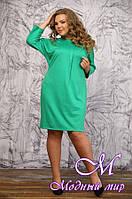Женское зеленое платье большие размеры (48-90) арт. Бокаччо