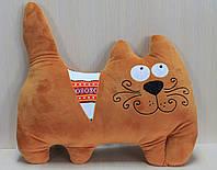 Подушка котик с орнаментом 40*35