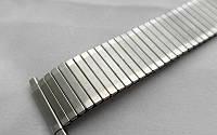 Матовый тянущийся браслет к часам - нержавейка, цвет серебро, матовый, фото 1