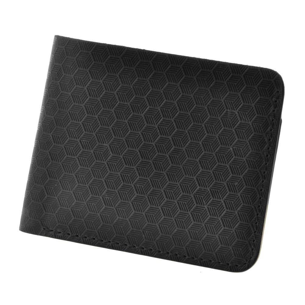 Купюрник кожаный мужской карты черный (ручная работа)