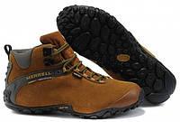 Зимние мужские кроссовки Merrell (Марелл) с мехом коричневые