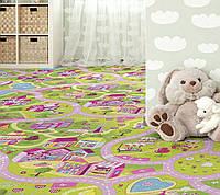 Детский ковролин Домик Барби - милый город (для девочек)