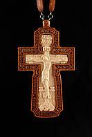 Крест наперсный иерейский №2 (красное дерево)
