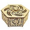 Шкатулка деревянная настольная шестигранная