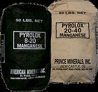 PYROLOX фильтрующий материал для удаления железа, марганца и сероводорода. Обезжелезивание, деманганация