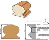 Комплект фрез для обработки поручня, с мех креплением ножей D140-d32-40-B69-z3